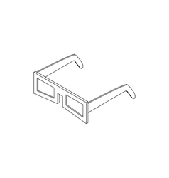 3D glasses icon isometric 3d style vector image