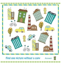 Educational Game for Children - find vector image