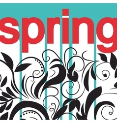 Card with print and sign spring vector