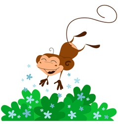 cute jumping monkey vector image