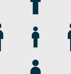 Human sign icon man person symbol male toilet vector