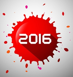 2016 red splash happy new year splatter symbol vector