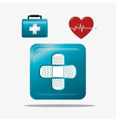 Medical healthcare graphic design with icons vector