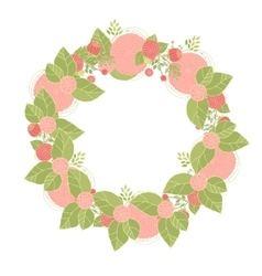 Floral wreath made of asters vector