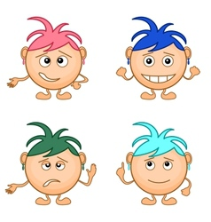 Smilies girls set vector