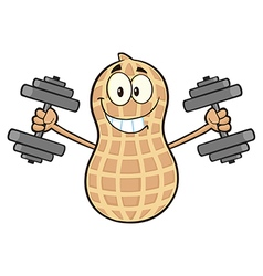 Peanut cartoon doing weights vector