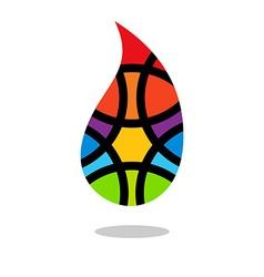Colorful drop logo colored drop logo drop logo vector