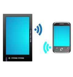 Bring Your Own Device BYOD Tablet with mobile vector image vector image