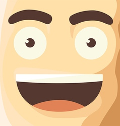 Cartoon Character Funny Avatar vector image