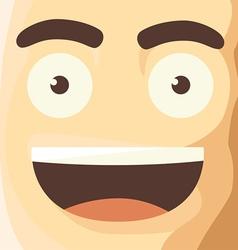 Cartoon character funny avatar vector