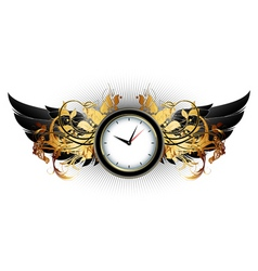 clock frame vector image vector image