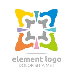 Colorful elements lines design abstract vector
