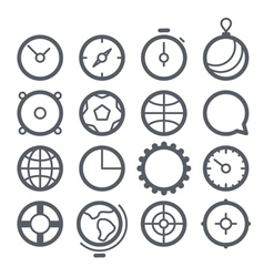 Different Web icons set isolated on white vector image
