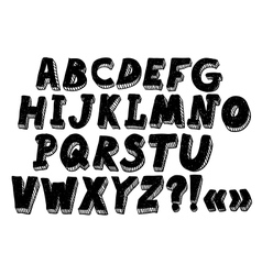 doodle alphabet vector image vector image