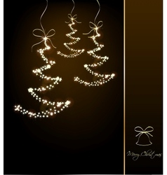 Funny sparkler trees vector