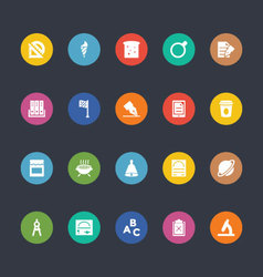 Glyphs colored icons 38 vector