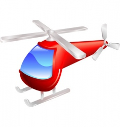 helicopter illustration vector image vector image