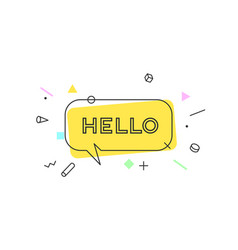 hello banner speech bubble vector image vector image