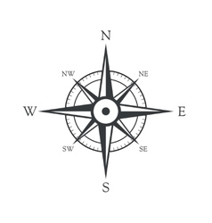 Icon old marine compass vector