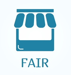 Icon or sign of fair in flat style vector image