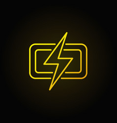 Lightning colorful icon vector