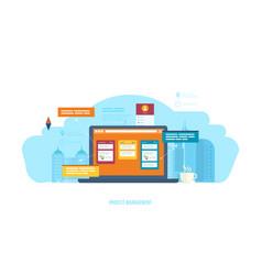 management setting goals business control vector image