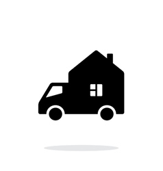 Motorhome car simple icon on white background vector