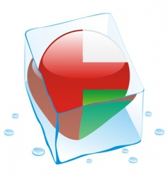 Oman flag vector image vector image