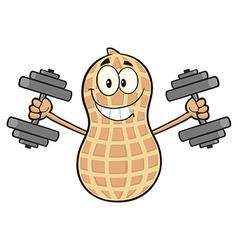 Peanut cartoon doing weights vector