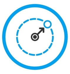 Round area radius icon vector
