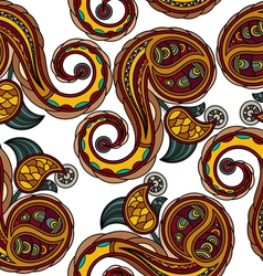 Seamless texture with Ukrainian national motifs vector image vector image