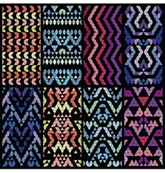Set of eight patterns vector image