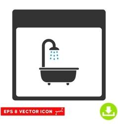 Shower bath calendar page eps icon vector