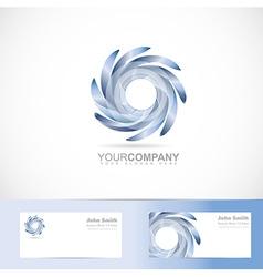 Swirl blades logo vector image vector image