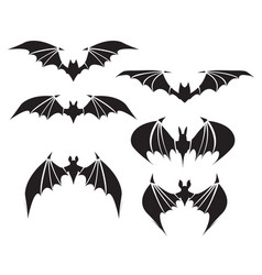symbol of bat with big wings vector image