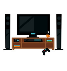 Tv set with gamepad vector