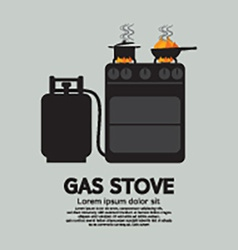 Two Stoves With Gas vector image vector image