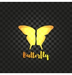 Isolated yellow butterfly logo insects vector