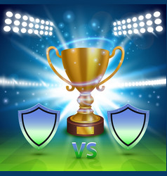 football championship cover sport cup background vector image
