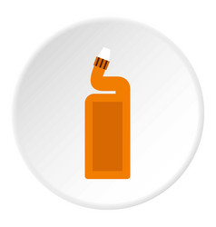 Disinfectant for the bathroom icon circle vector