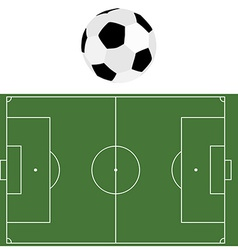 Football ball and soccer field vector