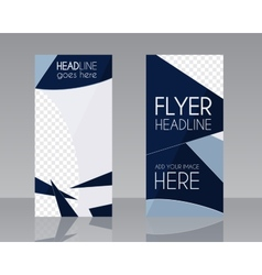 Brochure flyer design layout template blue vector