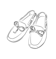 Silhouette of shoes on a white background vector