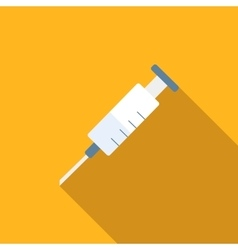 Syringe flat icon vector