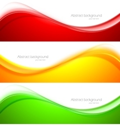Set of wave banners vector