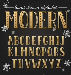 Hand drawn modern font vector