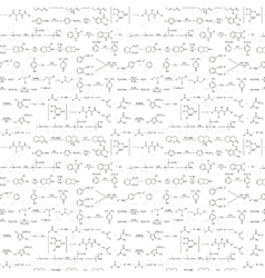 Many recondite chemical equations and formulas on vector image
