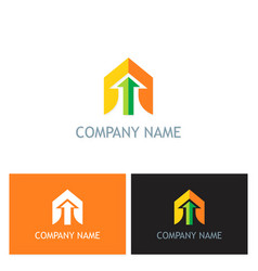 Arrow up business company logo vector