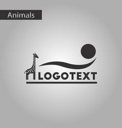 Black and white style icon giraffe logo vector