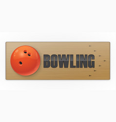 Black ball on the alley for bowling game vector